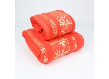 Набор махровых полотенец БР0004 50х90, 70х140 алый