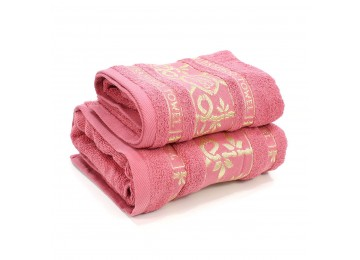 Набор махровых полотенец БР0014 50х90, 70х140 розовый