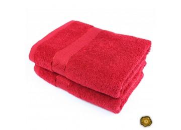 Полотенце махровое БС0006 50х90 красное