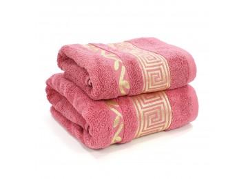 Набор махровых полотенец БР0014 Greece 50х90, 70х140 розовый