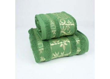 Набор махровых полотенец БР0010 50х90, 70х140 зеленый