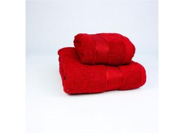 Набор махровых полотенец БС0006 50х90, 70х140 красный