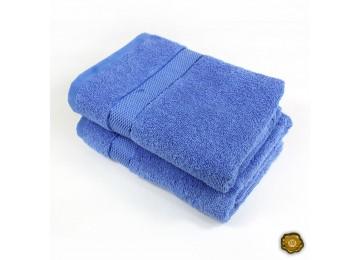 Полотенце махровое БС0008 50х90 голубое