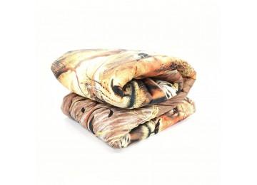 Одеяло силиконовое микрофибра евро (0113) Еней-Плюс бежевое коричневое, коричневый
