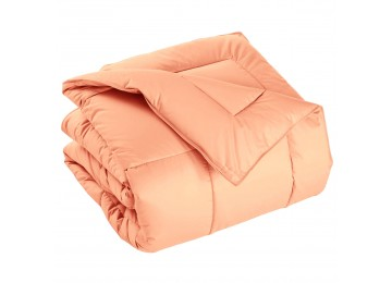 Summer silicone quilted blanket peach 200x220 0024 Eney Plus