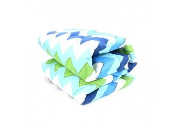 Silicone blanket microfiber euro (0111) Enei-Plus blue, green
