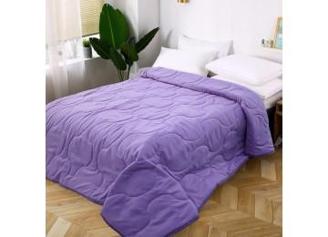 Стеганое покрывало на кровать из микрофибры фиолетовое МІ0023 (140х210)