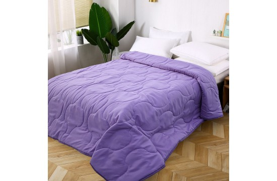 Стеганое покрывало на кровать из микрофибры фиолетовое МІ0023 (160х220)