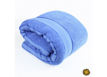 Махровое покрывало М0013 (150x200) голубое
