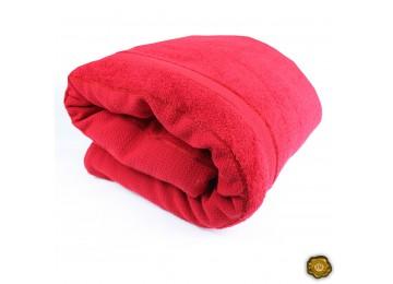Махровое покрывало М0014 (150x200) красное