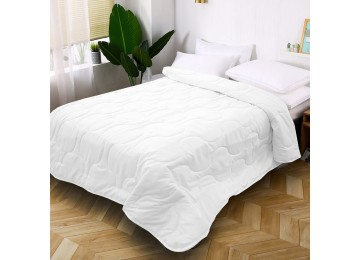 Quilted bedspread from microfiber white МІ0010 (220х240) Eney Plus
