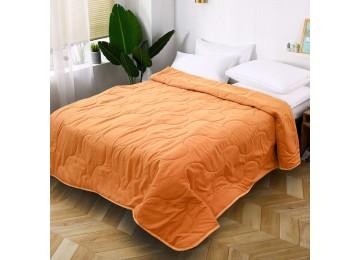 Стеганое покрывало на кровать из микрофибры персиковое МІ0024 (140х210)