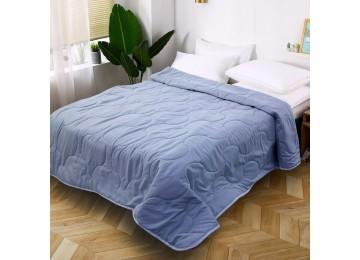 Покрывало на кровать микрофибра голубое МІ0008 (160х220)