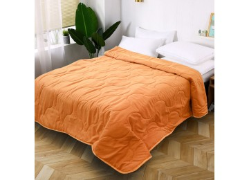 Quilted bedspread from microfiber peach МІ0024 (160х220)