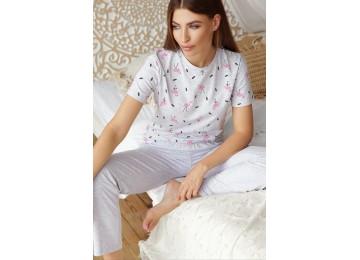 Pajamas Joyce-1 tm Glem gray-flamingo