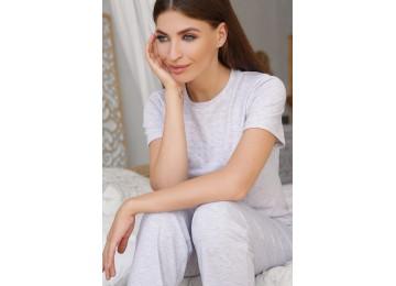 Pajamas Joyce-1 tm Glem gray-pink hearts