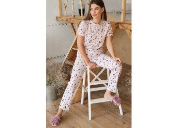 Pajamas Joyce tm Glem beige-Unicorn