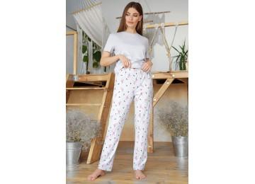 Pajamas Joyce-2 tm Glem gray-flamingo