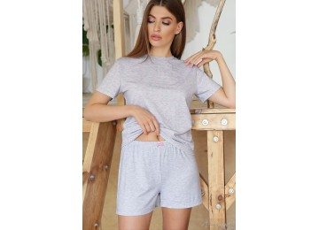 Pajamas Joy-1 tm Glem gray-pink hearts
