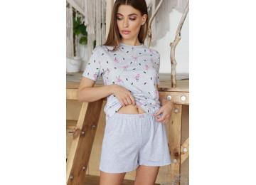 Pajamas Joy-1 tm Glem gray-flamingo