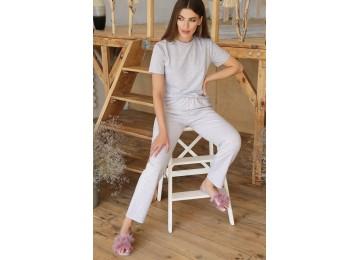 Pajamas Joyce-2 tm Glem gray-pink hearts