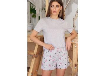 Pajamas Joy-2 tm Glem gray-flamingo