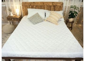 Наматрасник с бортами 90х200 белый тм Leleka textile
