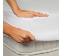 Waterproof sheet on an elastic band 90х200 white tm Leleka textile