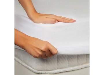 Водонепроницаемая простынь на резинке Leleka-Textile 120х200 белый