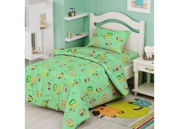 Детское постельное белье в кроватку ранфорс БД-51 105х140 салатовое тм Leleka textile