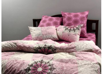 """Постельное бельё бязь голд """"Pink sunset"""" код: Г0313 подростковое"""