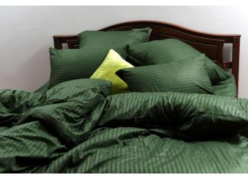 """Постельное бельё страйп-сатин """"Emerald stripe"""" код: СТ0284 подростковое"""