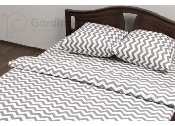 """Комплект постельного белья ранфорс""""Zig-zag"""" код: П0125 евро RGTF"""