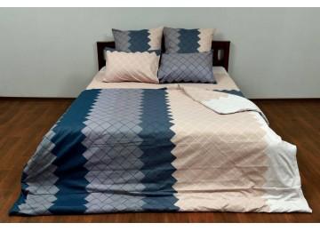 """Подростковое постельное белье бязь голд """"Lozenges"""" код: Г0303 RGTF"""