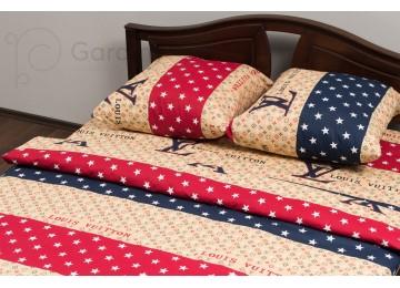 "Bed linen coarse calico gold ""Louis Vuitton"" code: G0088 family"