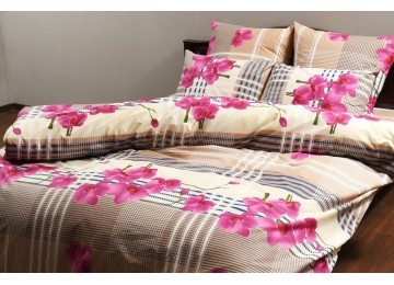 """Bed linen coarse calico gold """"Greenhouse"""" code: G0071 double"""