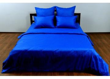 """Постельное бельё страйп-сатин """"Blue stripe"""" код: СТ0299 двуспальное"""