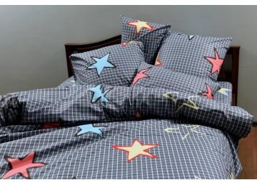 """Постельное белье для подростков бязь голд """"Сaged stars"""" код: Г0291 RGTF"""