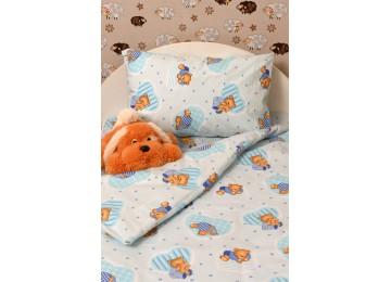 """Детское постельное бельё в кроватку бязь голд """"Sleepy bears"""" код: Г0221"""