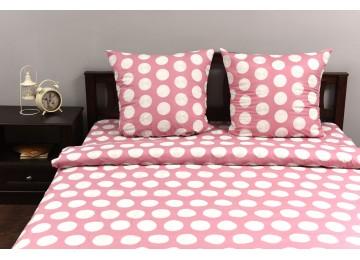 "Bed linen set ranforce ""Raspberry light"" code: P0162 one and a half"