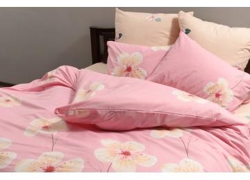 "Постельное белье бязь голд ""flowers on pink"" код: Г0206 семейное"