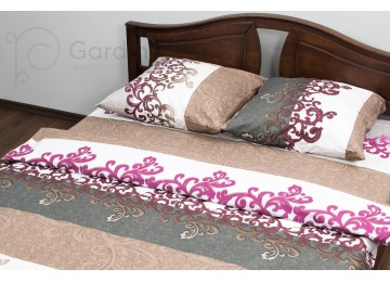 """Bed linen coarse calico gold """"Pink"""" code: G0037 double euro"""