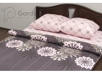 """Bed linen coarse calico gold """"Abstraction"""" code: G0155 double"""