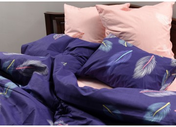 """Bed linen coarse calico gold """"Burst of color"""" code: Г0248 double RGTF"""