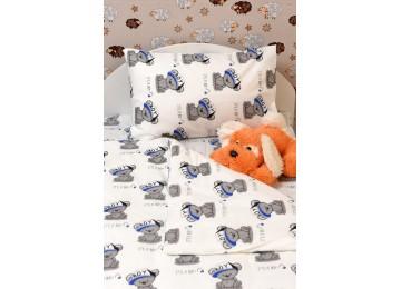 """Детское постельное бельё в кроватку бязь голд """"Teddy bear boy"""" код: Г0229"""