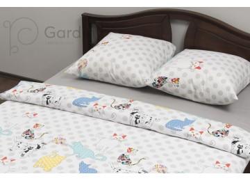 """Комплект постельного белья ранфорс """"Cats"""" код: П0158 полуторное"""