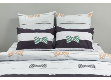 Bed linen coarse calico gold G0325 one and a half RGTF