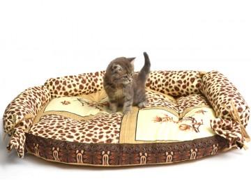 """Подушка для собак и котов """"ОВАЛ"""" лежак с бортиком 80х60х17см RGTF"""