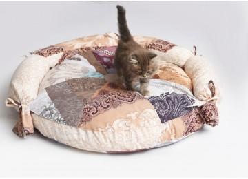 """Подушка для собак и котов """"КРУГ"""" лежак 70х7см с бортиком RGTF"""