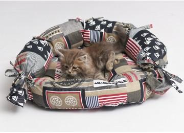 """Подушка для собак и котов """"ОВАЛ"""" лежак с бортиком 50х40х17см RGTF"""